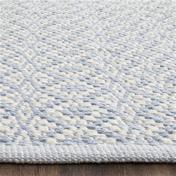 Safavieh Montauk Flat Weave Ivory and Light Blue Area Rug,MT