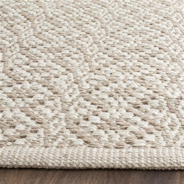 Safavieh Montauk Flat Weave Ivory and Beige Area Rug,MTK716G