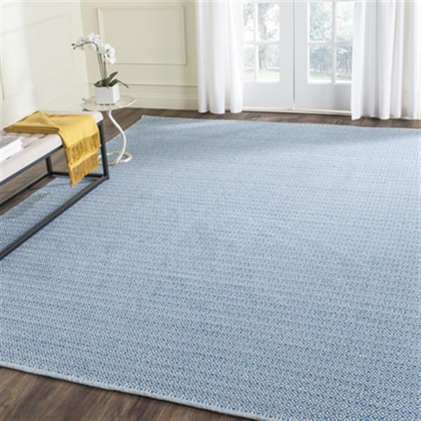 Safavieh Montauk Flat Weave Ivory and Blue Area Rug,MTK717C-