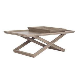 Safavieh FOX4230A Arleana Cross Leg Coffee Table with Tray,F