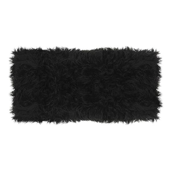 Safavieh Maia 17.30-in x 38.00-in Black Faux Sheepskin Bench