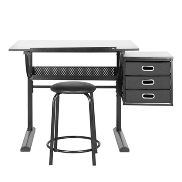 Safavieh 20.8-in x 11.8-in Black/White Harvard Writing Desk & Stool