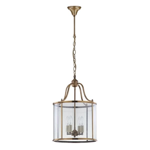 Safavieh Sutton Place 4 Light Brass Pendant Light