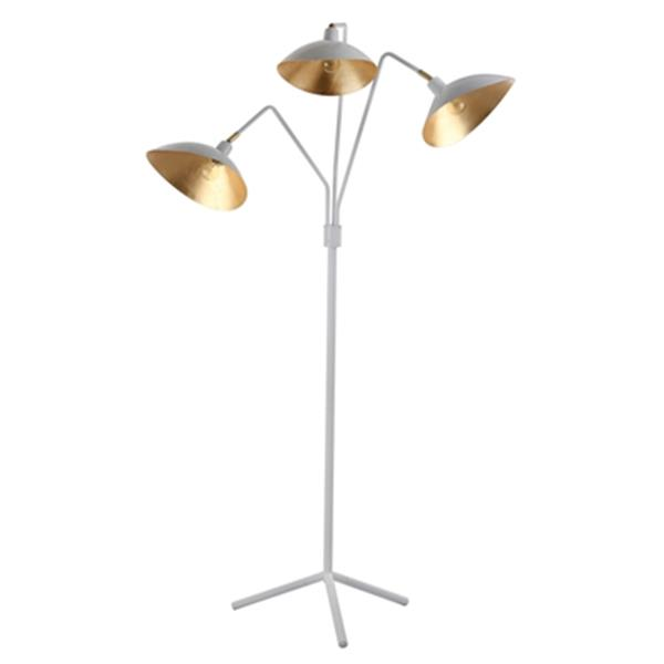 Safavieh 69.5-in White Gold Iris Floor Lamp