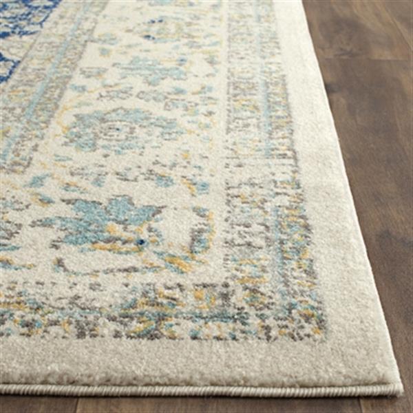 Safavieh Evoke Ivory and Blue Indoor Area Rug,EVK220C-8