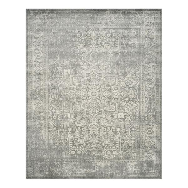 Safavieh Evoke Silver and Ivory Indoor Area Rug,EVK256S-8