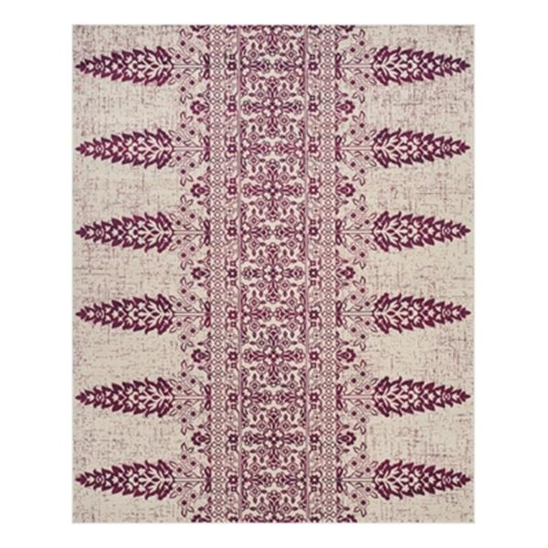 Safavieh Evoke Ivory and Fuchsia Indoor Area Rug,EVK521K-8