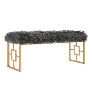 Safavieh FOX6291 Mera Faux Sheepskin Bench,FOX6291A