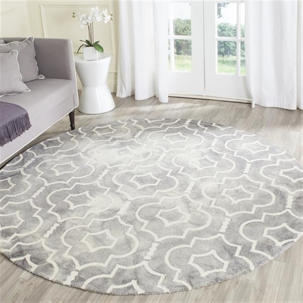 Safavieh Dip Dye Hand-Tufted Wool Grey and Ivory Area Rug,DD