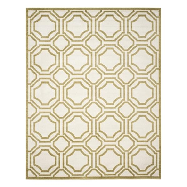 Safavieh Ivory and Light Green Amherst Indoor/Outdoor Rug,AM