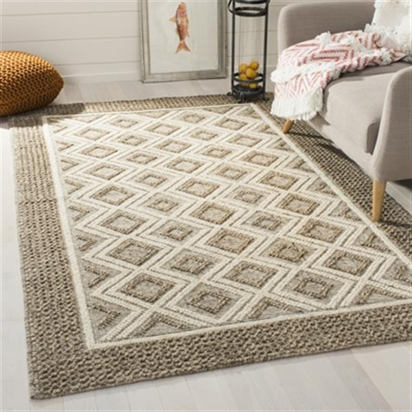 Safavieh Vermont Beige and Ivory Hand Woven Area Rug,VRM212B