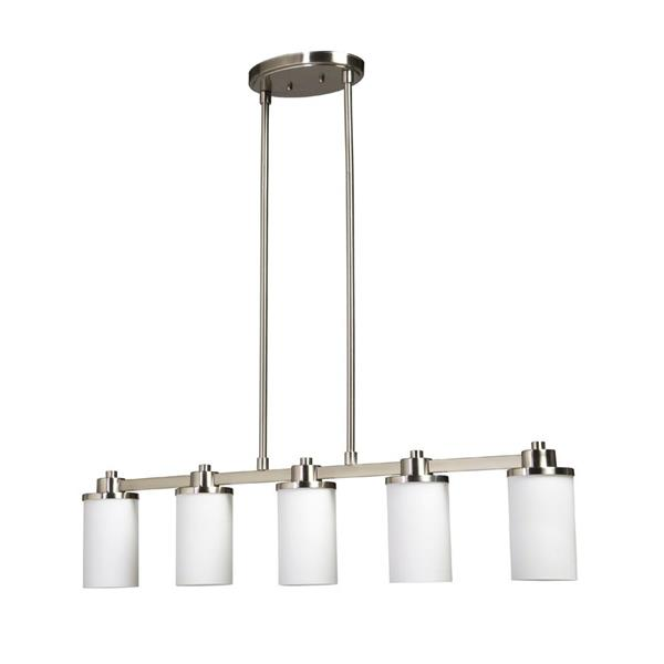 Artcraft Lighting Parkdale 38-in Polished Nickel 5-Light Island Chandelier