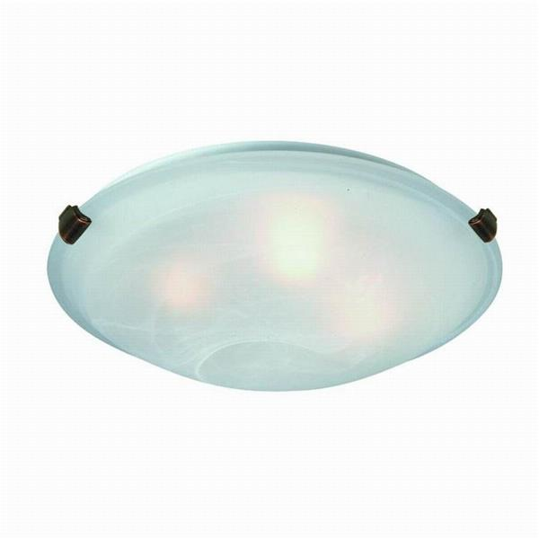 Artcraft Lighting Clips 12-in White Flush Mount Light