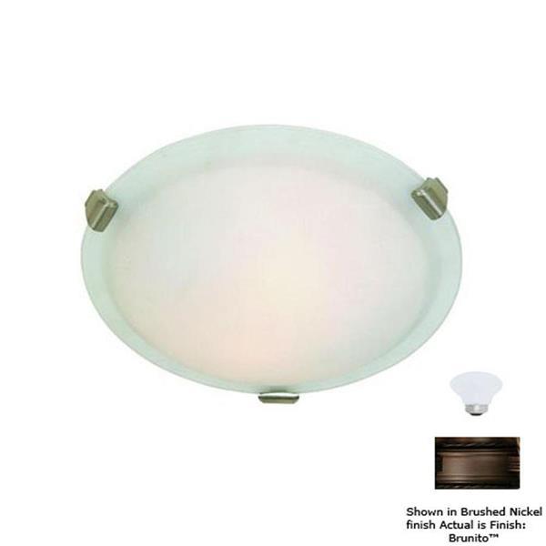 Artcraft Lighting Clip Flush 16-in Brunito Flush Mount Light