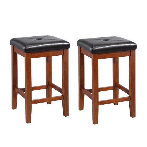 Crosley Furniture Casual Classic Cherry Counter Bar Stools (Set of 2)