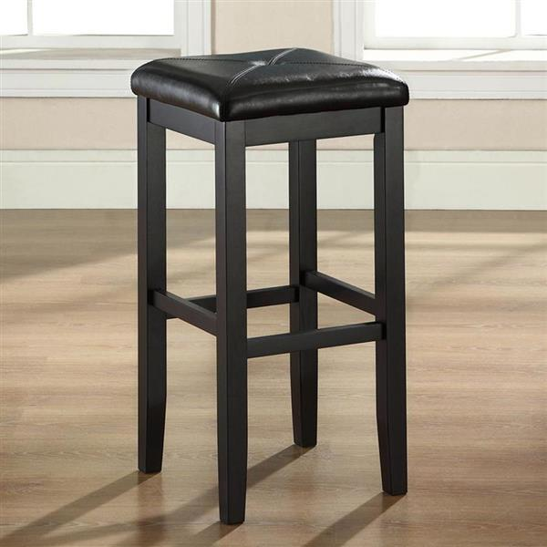 Crosley Furniture Upholstered Square Seat 29-in Vintage Mahogany Bar Stools (Set of 2)