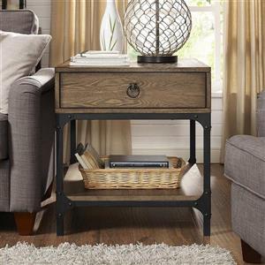 Crosley Furniture Trenton 27-in x 24-in x 26-in Rustic Coffee Wood End Table