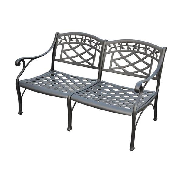 Crosley Furniture Sedona Collection 29-in x 41-in Charcoal Black Aluminum Steel Outdoor Loveseat