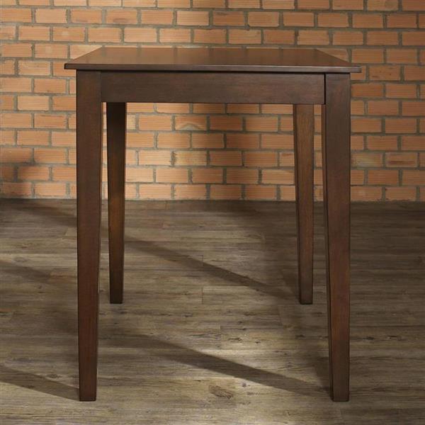 Crosley Furniture Vintage Mahogany Wood Counter Table