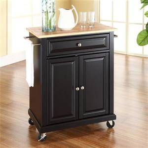 Crosley Furniture 18-in x 36-in Black Portable Kitchen Island