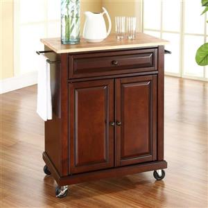Crosley Furniture 18-in x 36-in Vintage Mahogany Portable Kitchen Island