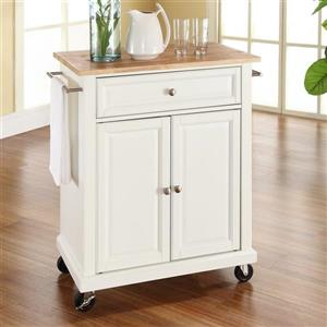 Crosley Furniture 18-in x 36-in White Portable Kitchen Island
