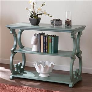 Boston Loft Furnishings Bando Distressed Agate Green Composite Country Sofa Table