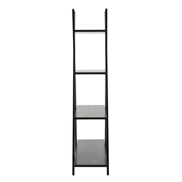 Boston Loft Furnishings 59-in x 46-in x 13-in Black Open Back Bookcase