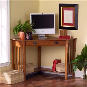 Boston Loft Furnishings 30-in x 48-in Mission Oak Corner Desk