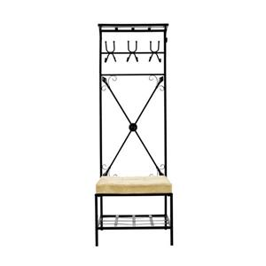 Boston Loft Furnishings 72.5-in Black 12 Hook Coat Stand