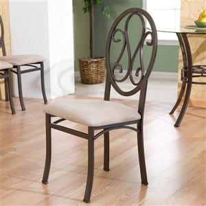 Boston Loft Furnishings Lucianna Cream Side Chairs (Set of 4)