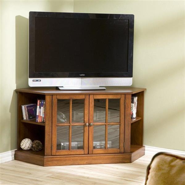 Boston Loft Furnishings Hopewell Walnut Corner TV Cabinet
