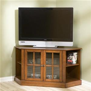 Boston Loft Furnishings Hopewell Walnut Corner TV Cabinet