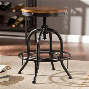 Boston Loft Furnishings Alex 19-in Black Adjustable Industrial Stool