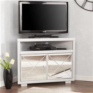 Boston Loft Furnishings Impression Mirrored Corner TV Stand