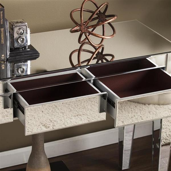 Boston Loft Furnishings Darvo Mirrored Modern Console Table