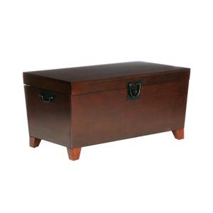 Boston Loft Furnishings 100-lb Pyramid Espresso Wood Storage Trunk