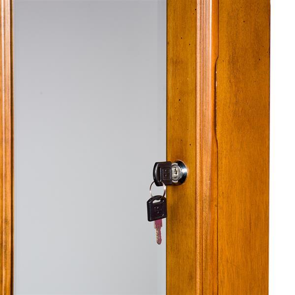 Boston Loft Furnishings 48.25-in x 14.50-in x 4.25-in Nina Oak Wall-Mount Jewelry Armoire
