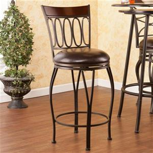 Boston Loft Furnishings Cache 25-in Dark Champagne Swivel Counter Stool
