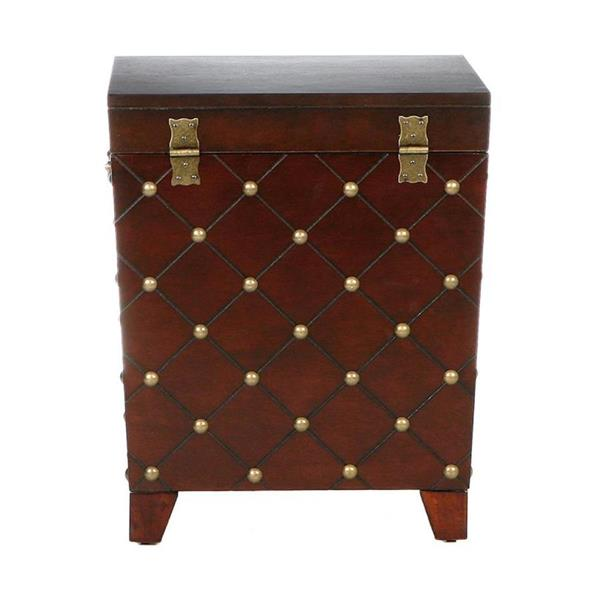 Boston Loft Furnishings 21-in x 21.25-in x 24-in Espresso Composite Glam End Table