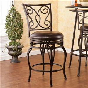 Boston Loft Furnishings Herring 25.25-in Hammered Bronze Swivel Counter Stool