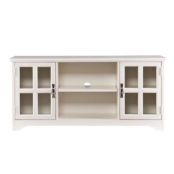Boston Loft Furnishings Hudson White TV Cabinet