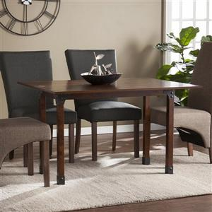 Boston Loft Furnishings Dewgone Distressed Warm Brown Rectangular Extending Counter Table