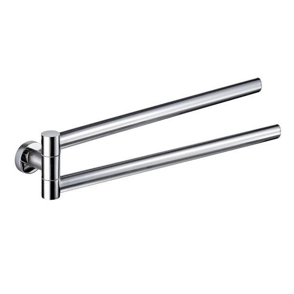 Nameeks Demetra 17-in Chrome Double Towel Bar