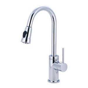 Pioneer Industries Motegi Polished Chrome 17.6-in Lever-Handle Deck Mount Pull Down Kitchen Faucet