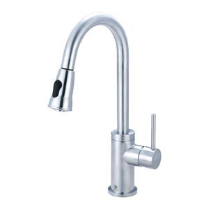 Pioneer Industries Motegi Stainless Steel 17.6-in Lever-Handle Deck Mount Pull Down Kitchen Faucet