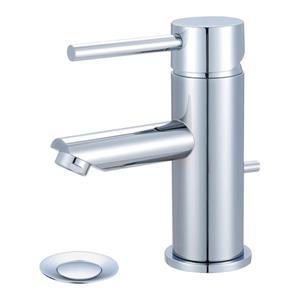 Pioneer Industries Motegi Polished Chrome 1-Handle Single Hole Deck Mount Bathroom Sink Faucet With Drain