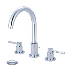 Pioneer Industries Motegi Polished Chrome 2-Handle Widespread Deck Mount Bathroom Sink Faucet With Drain