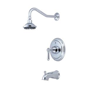 Pioneer Industries Americana Polished Chrome 1 Handle Bathtub and Shower Faucet