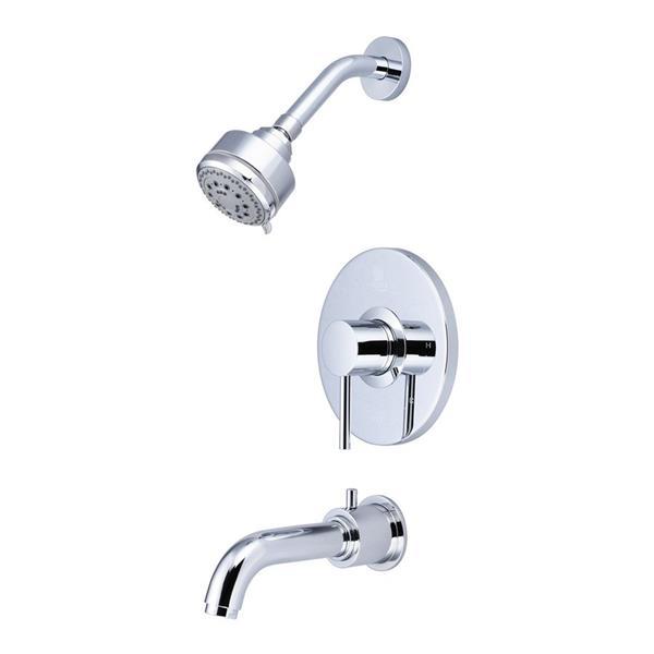 Pioneer Industries Motegi Polished Chrome 1 Handle Bathtub and Shower Faucet